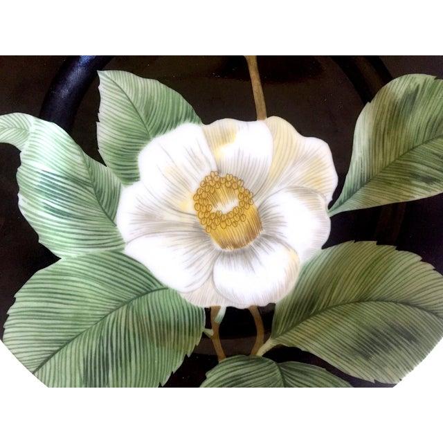 Fitz & Floyd Japan Vintage Contemporary Modernist Floral Porcelain Dessert Plates - Set of 3 For Sale In Kansas City - Image 6 of 11