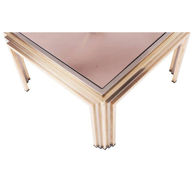 Metal Romeo Rega Brass and Chrome Coffee Table For Sale - Image 7 of 8