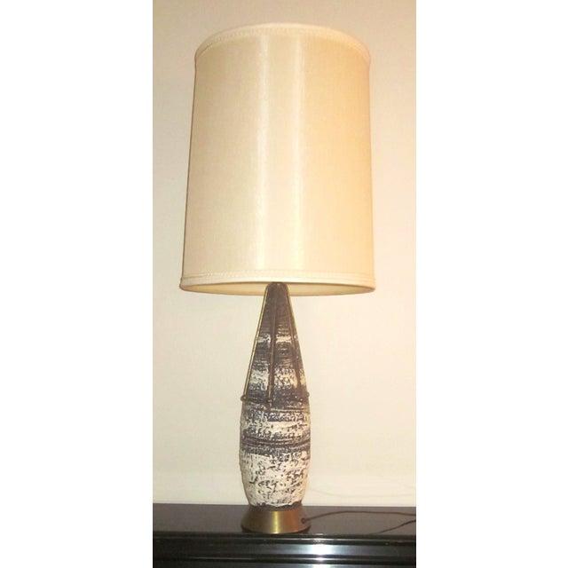 Brass Atomic Spoke Fat Glazed Drip MCM Lamp - Image 2 of 10