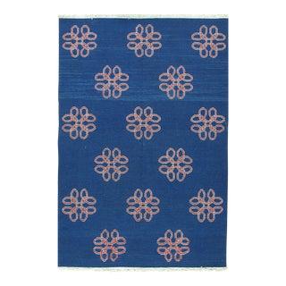 Soumak Design Hand Woven Wool Rug - 6' x 9'