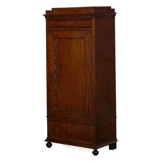 19th Century Biedermeier Mahogany Antique Armoire Wardrobe Cabinet Preview