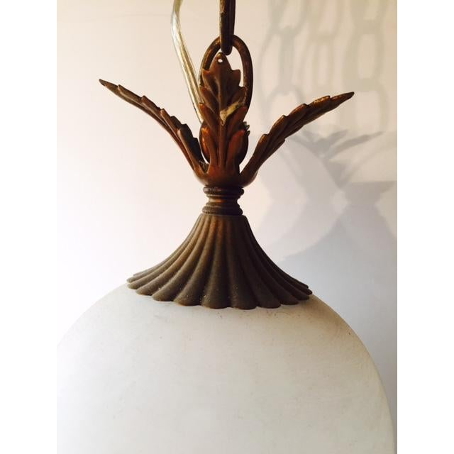 Brass & White Glass Pineapple Swag Light - Image 4 of 6