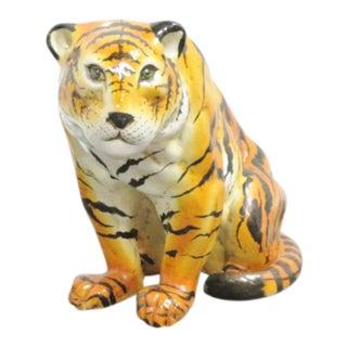 Italian Terracotta Tiger Statue