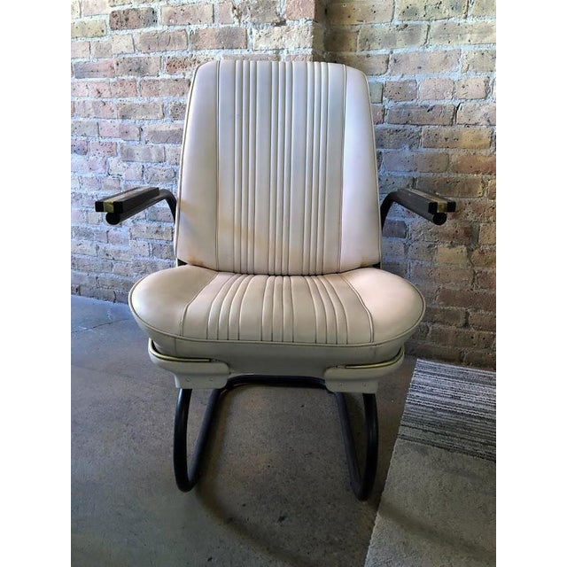 Prime 1960S Vintage White Chevelle Roadster Chair Bralicious Painted Fabric Chair Ideas Braliciousco