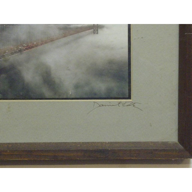 "Wood Framed Color Photograph ""The Golden Gate Bridge"" by Daniel Cole - Image 4 of 6"