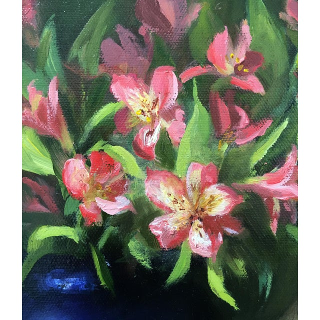 Alstroemeria, Lemons & Silver Teapot Oil Painting - Image 2 of 7