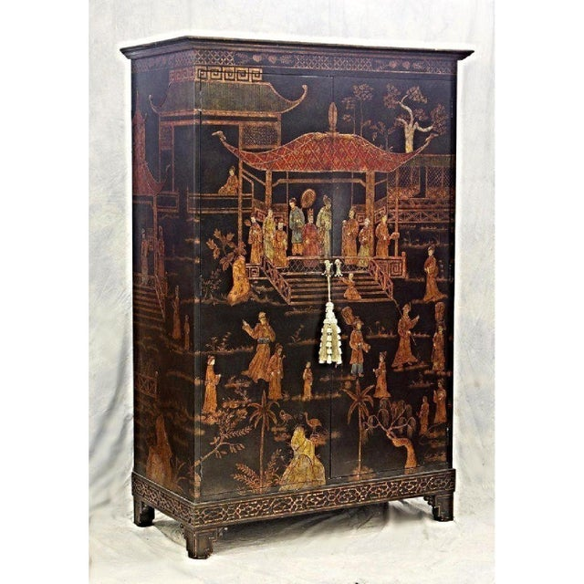Vintage Asian Chinoiserie Cabinet - Image 2 of 9