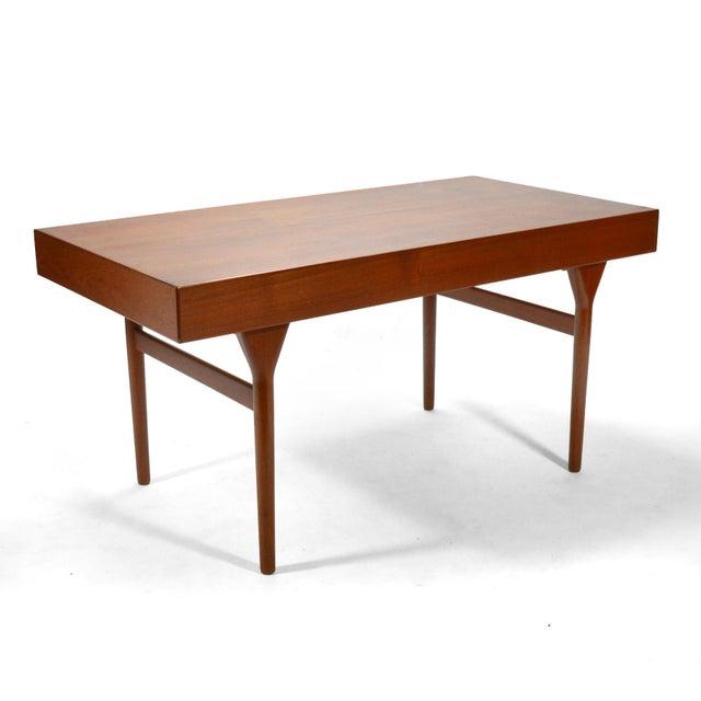 1950s Nanna Ditzel & Jørgen Ditzel Three-Drawer Teak Desk For Sale - Image 5 of 10