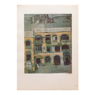 """1948 Pablo Picasso Original """"La Maison Bleue"""" Peirod Lithograph, With C. O. A. For Sale"""