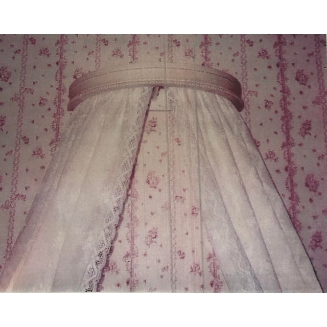 Belgian Swedish Gustavian Bed Canopy With Linen Drapery For Sale - Image 3 of 13