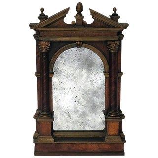 18th Century Baroque Italian Tabernacle Framed Mirror For Sale