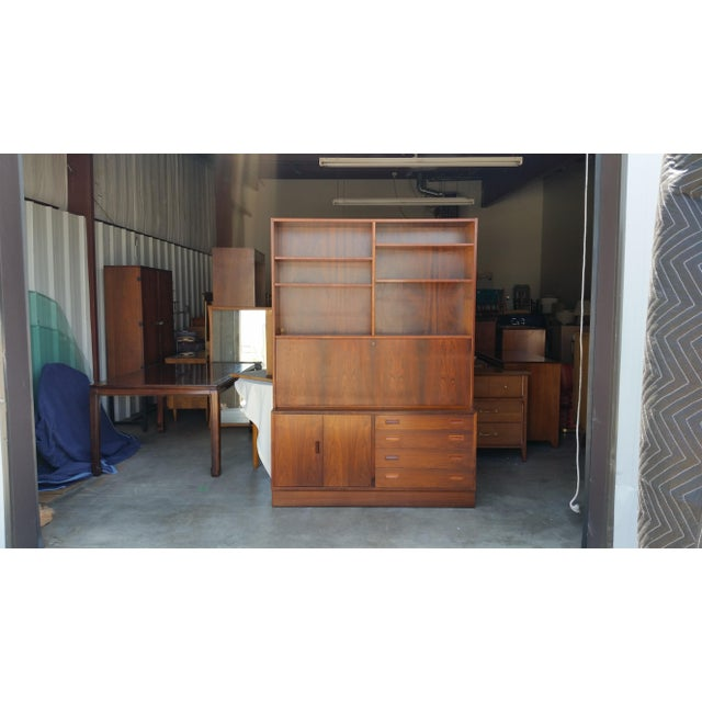 1960's Carlo Jensen Rosewood Wall Unit for Hundevad & Co For Sale - Image 12 of 12