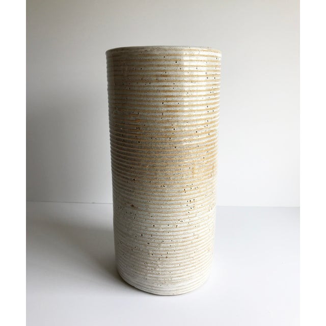 Ceramic Cylinder Vase - Image 4 of 4