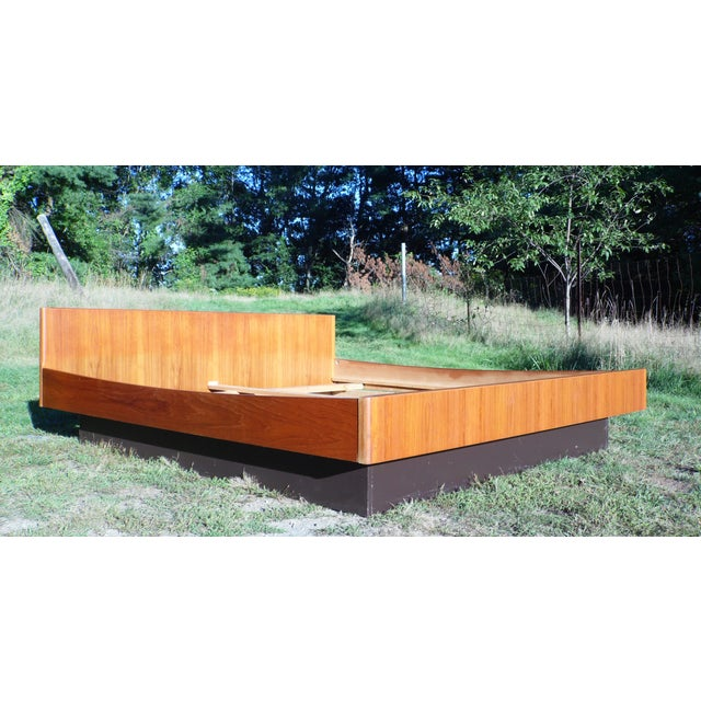 Danish Modern Teak King Platform Bed - Image 3 of 11