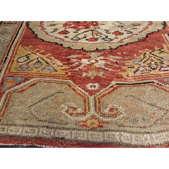 "Bellwether Rug Vintage Turkish Oushak Small Area Rug- 4'2""x5'4"" - Image 5 of 10"