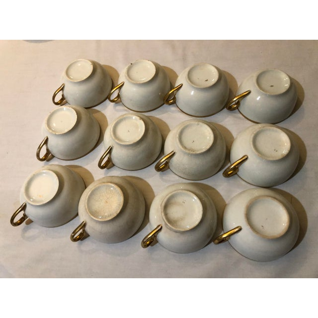 18th Century W. H. Grindley & Co Chine Marengo Pattern White Gold Trim Dinnerware - 83 Pieces For Sale - Image 4 of 13