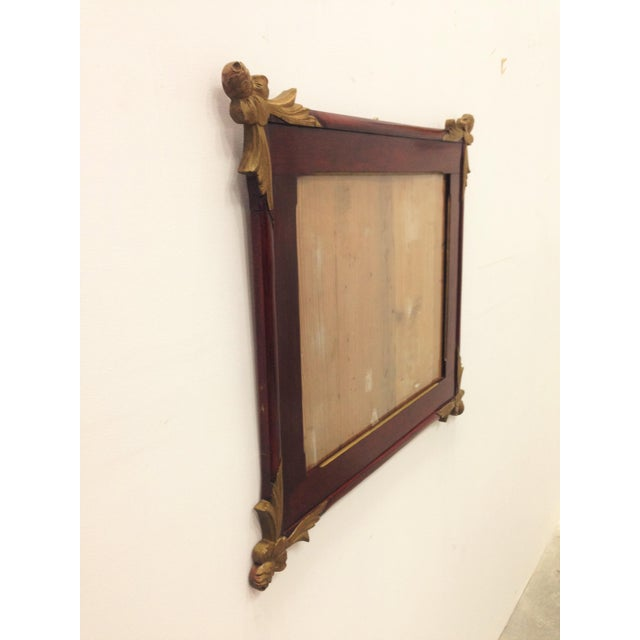 19th Empire Style Rectangular Frame with Bronze Mounts in the Corners - Image 4 of 7