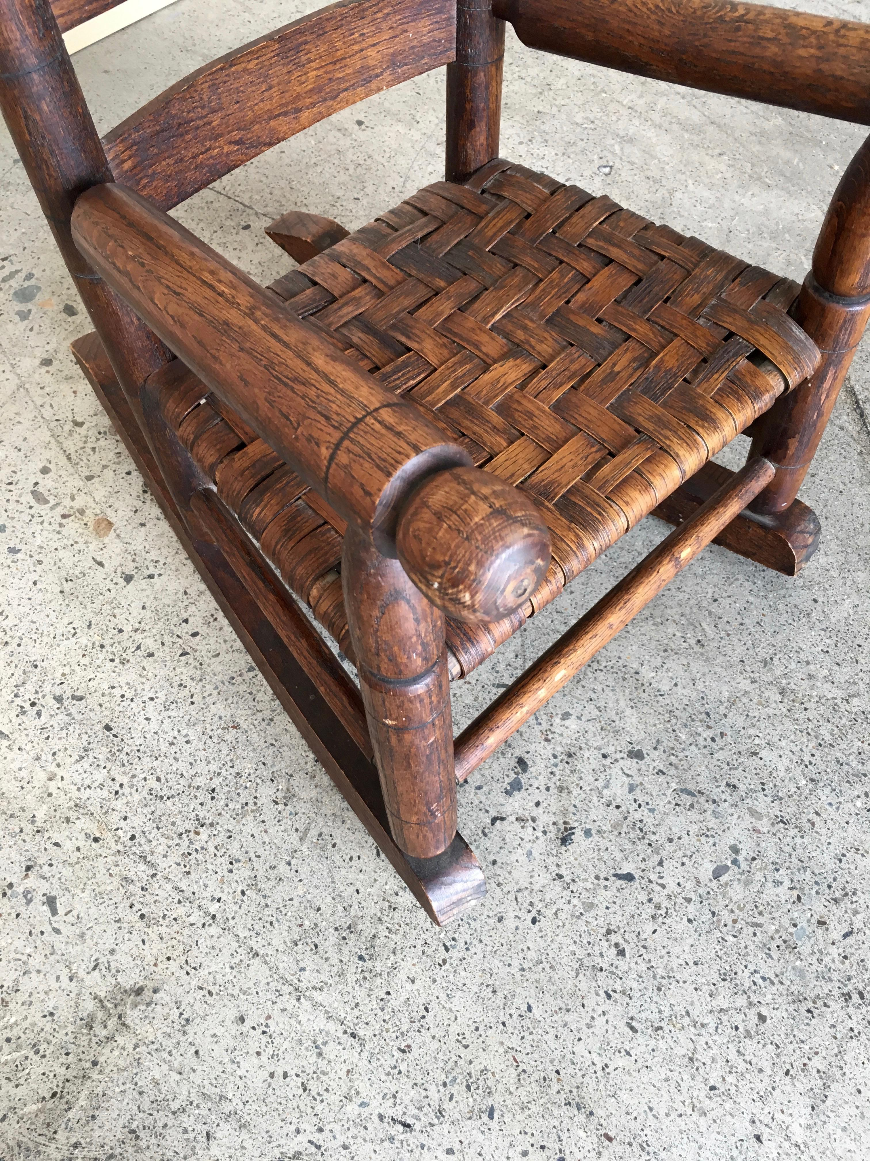 Basket Weave Country Childu0027s Rocking Chair   Image 3 ...