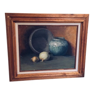 Vintage Early 20th Century Still Life Framed Painting For Sale