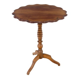 19th C. French Mahogany Tilt-Top Table