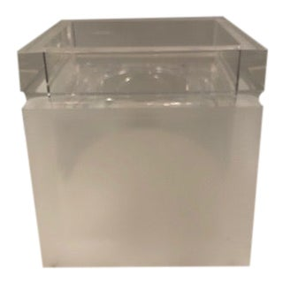 Frosted Lucite Tissue Box For Sale