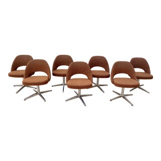 Vintage Mid Century Saarinen for Knoll International Executive Swivel Office Chairs- Set of 7 For Sale