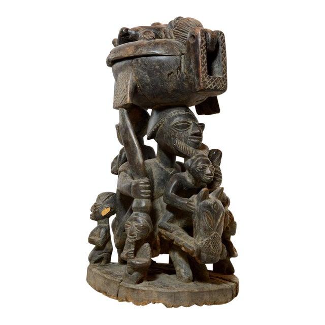 Yoruba Wooden Divination Bowl For Sale