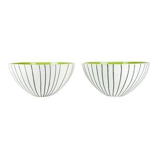Italian Porcelain Deco Bowls - A Pair For Sale