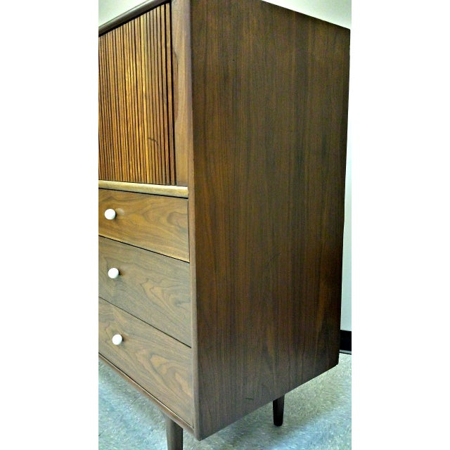 Kipp Stewart For Drexel Tambour Door High Chest - Image 6 of 10