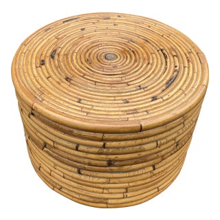 Pretzel Rattan Drinks Table For Sale