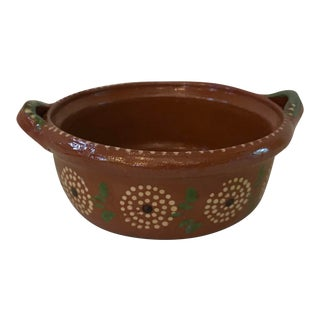 Vintage Mexican Pottery Bowl For Sale