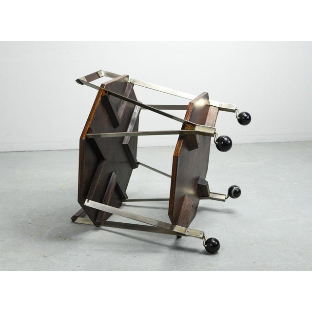 Mid-Century Octagonal Serving Trolley Designed by Ico Parisi for Stildomus Milan, Italy, 1959 For Sale - Image 12 of 13