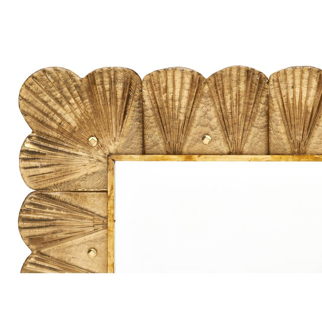 Early 21st Century Murano Glass Gold Leaf Mirror For Sale - Image 5 of 11