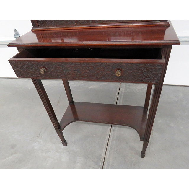 Brown 19thC Georgian Collectors Cabinet For Sale - Image 8 of 12