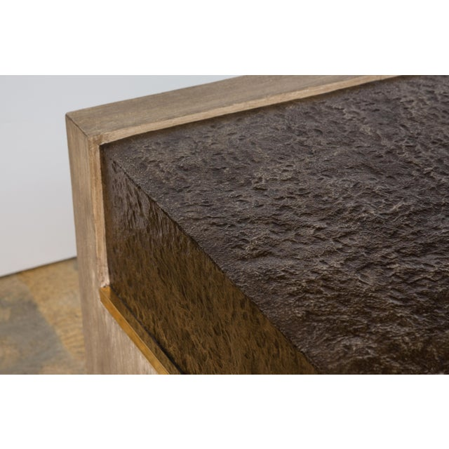Metal Modern Paul Marra Waterfall Table For Sale - Image 7 of 10