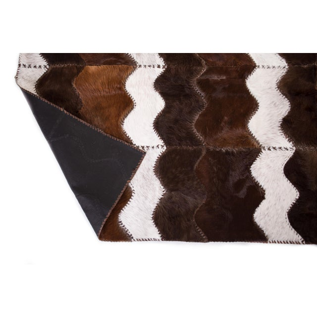 """Cowhide Patchwork Area Rug - 4' x 6'4"""" - Image 6 of 8"""