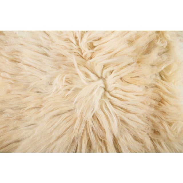 """2010s Contemporary Hand-Tanned Sheepskin Pelt - 2'2""""x3'6"""" For Sale - Image 5 of 6"""