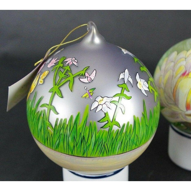 "Traditional Sacred Season Holiday Hand Painted ""Lion & Lamb"" Ornament Christmas Easter For Sale - Image 3 of 8"