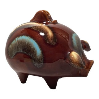 Mid-Century Glazed Piggy Bank