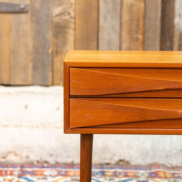 Exceptionally lovely small Danish Modern teak chest by Arne Vodder for NC Mobler Odense! This sweet little piece is the...
