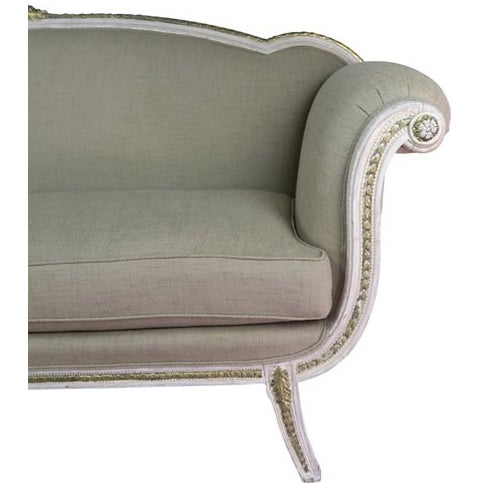 Italian Neoclassical-Style Painted Sofa - Image 7 of 7