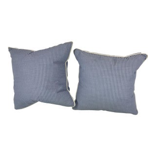 "18"" Scalamandre Stripe Outdoor Pillows - A Pair For Sale"