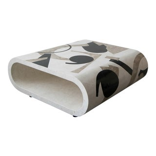 Post Modern Tessellated Stone Coffee Table For Sale