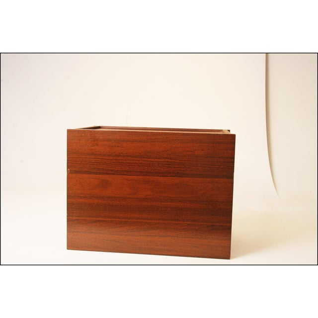 Mid-Century Modern Wood Record Cabinet - Image 9 of 11