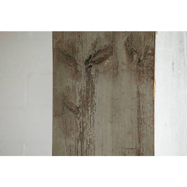 White Distressed Tall Wooden Architectural Column with Patina For Sale - Image 8 of 9