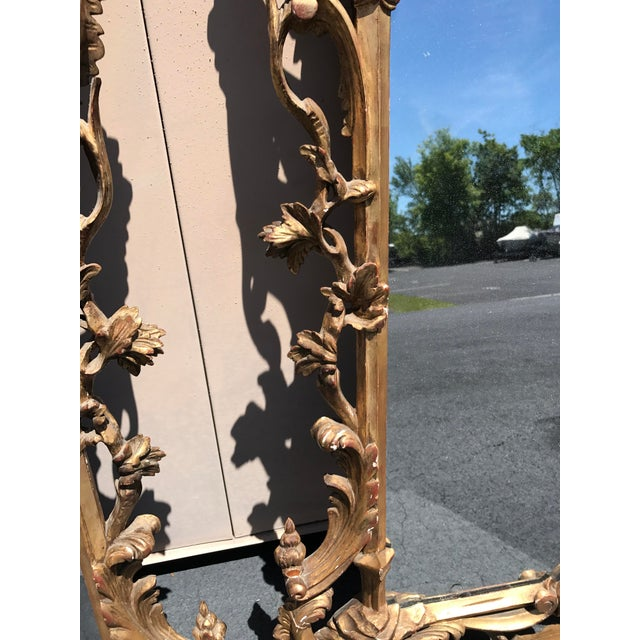 19th Century Antique English Gilt Wood Rococo Chippendale Mirrors - a Pair For Sale - Image 9 of 12
