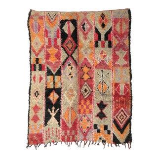 Vintage Moroccan Boujad Rug - 5′6″ × 6′9″ For Sale