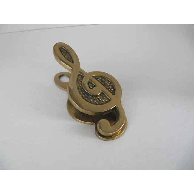 Brass Treble Clef Paper Clip - Image 6 of 7