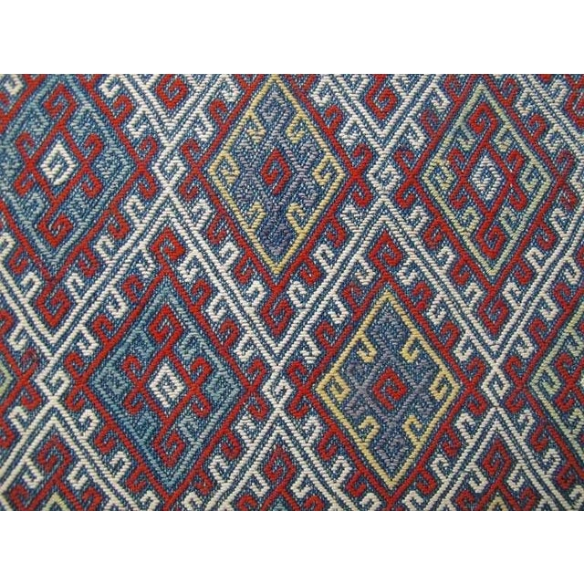 19th Century Fine Silk Flat-Weave For Sale - Image 4 of 6