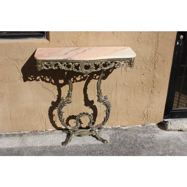1900s French Louis XVI Bronze Console Table For Sale - Image 10 of 13